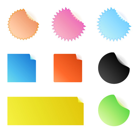 Vector illustration of colored Peeling stickers Vector