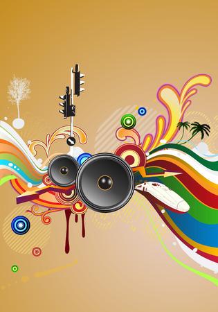 Vector illustratie van glanzend Abstract party design Stock Illustratie