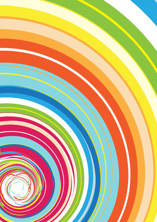 curlicue: Vector illustration of Abstract background with Glassy Colorful Rainbow Spiral