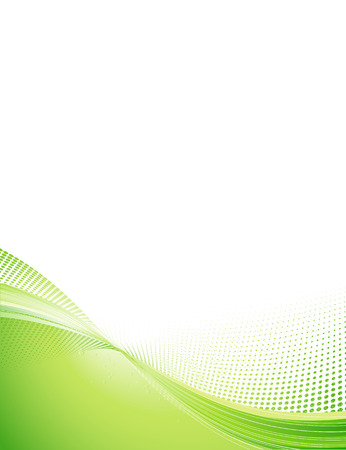 vector images: Vector Illustration of green abstract techno background made of dots and curved lines. Great for backgrounds or layering over other images Illustration
