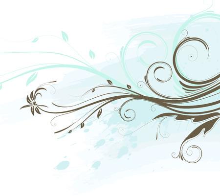 Vector illustration of Grunge Floral Background Vector
