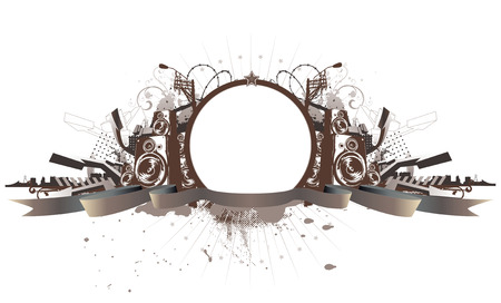 urban grunge: Vector illustration of style  urban grunge frame