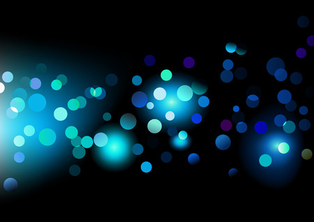blinking: Vector illustration of disco lights dots pattern on black background