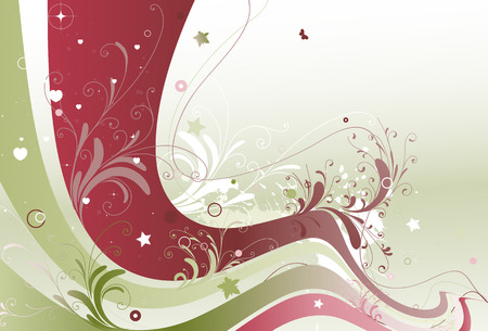 Vector illustration of style floral colored background Vector