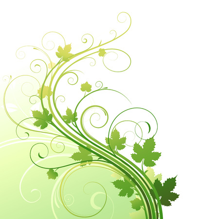 voluptuous: Vector illustration of style Floral Background