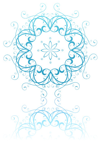 Vector illustration of abstract floral and ornamental element Vector