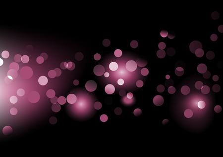 Vector illustration of disco lights dots pattern on black background Vector