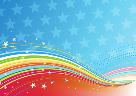 Vector illustration of fourth of July patriotic abstract background Vector