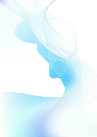 voluptuous: Vector illustration - abstract background made of color splashes and curved lines