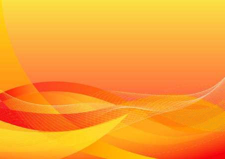 Vector illustration - abstract background made of orange splashes and curved lines Vector