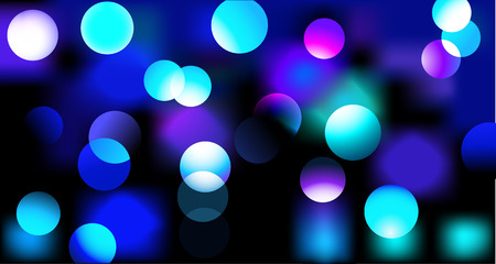 mirrored: Vector illustration of disco lights dots pattern on black background