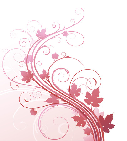 Vector illustration of style Floral Background Stock Vector - 5110160