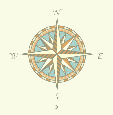 Vector illustration of Compass Windrows. Great for any