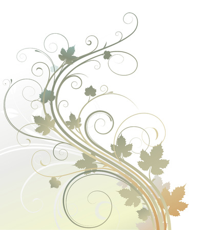 Vector illustration of style Floral Background Vector