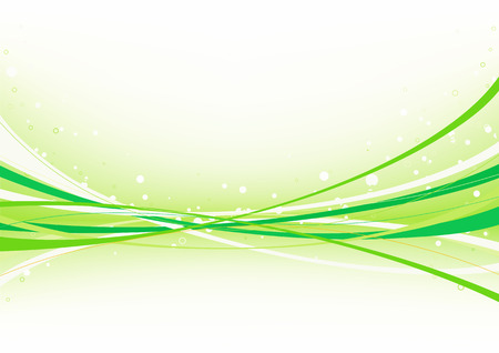 Vector illustration of abstract green background made of curved lines Vector