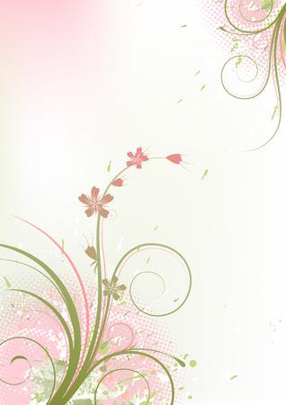 Vector illustration of Grunge Floral Background Vector