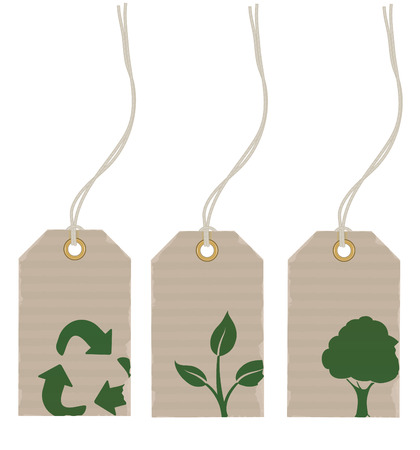 Vector illustration Set of eco product price tags Vector