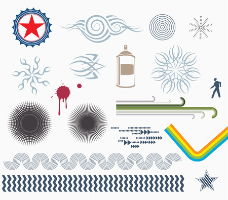 Vector illustration - set of Design Elements Vector