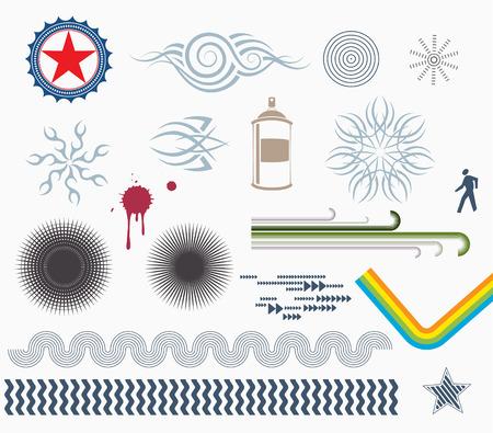 Vector illustration - set of Design Elements Vector