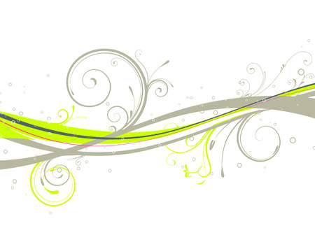 Vector illustration of Floral Decorative background Vector
