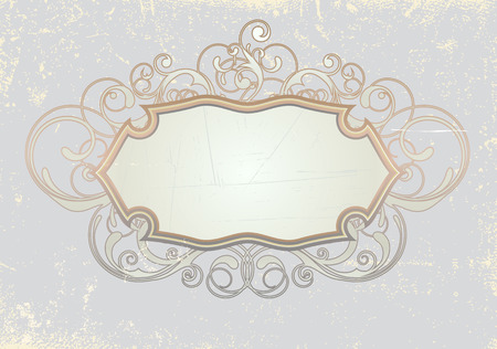 titling: Vector illustration of titling frame on the Grunge background. Blank so you can add your own images or text