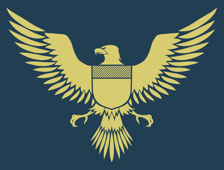 phoenix bird: Vector illustration of coat-of-arms bird - Medieval Eagle of my own design