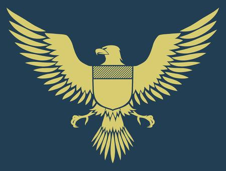 adler silhouette: Vector illustration von Wappen Vogel - Mittelalterliche Eagle von meinem eigenen Design