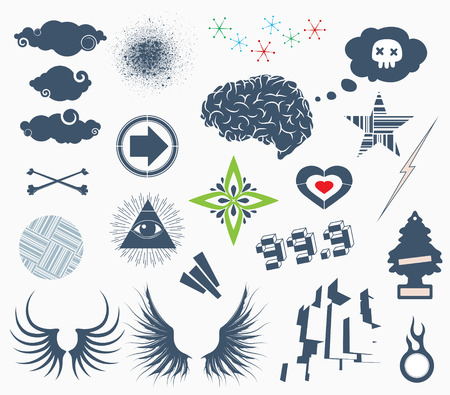 Vector illustration - set of urban Design Elements Stock Vector - 5184825