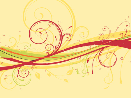 Vector illustration of Floral Decorative background Vector