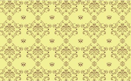 elegant Victorian retro motif wallpaper Pattern Stock Photo - 5212365