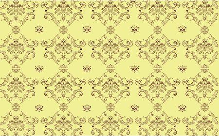elegant Victorian retro motif wallpaper Pattern Stock Photo - 5212365