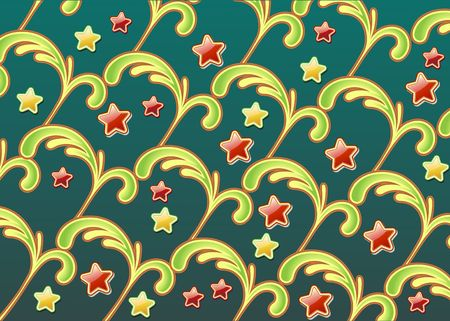 abstract background made of floral elements and fun party colors stars Stock Photo - 5212356