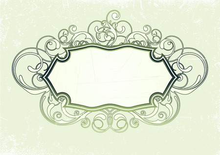 Vector illustration of titling frame on the Grunge background. Blank so you can add your own images or text Vector