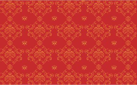 red elegant Victorian retro motif wallpaper Pattern Stock Photo - 5221012