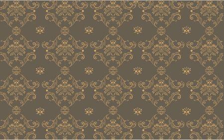 elegant Victorian retro motif wallpaper Pattern Stock Photo - 5235968