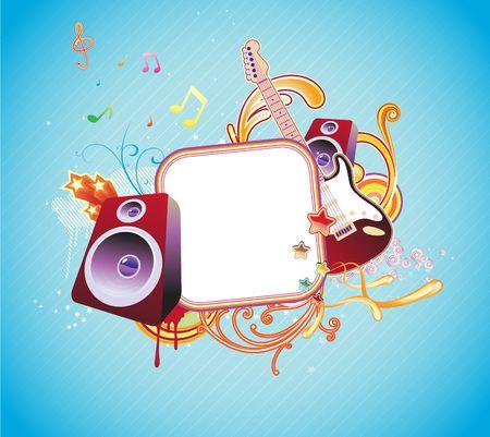 illustration of music abstract frame Stock Illustration - 5235937
