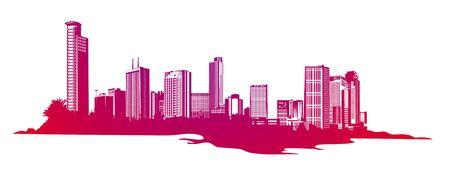 illustration of style urban background Stock Illustration - 5235877