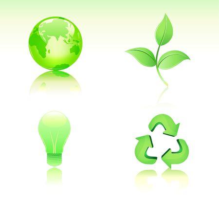 Environmental Conservation icon set photo