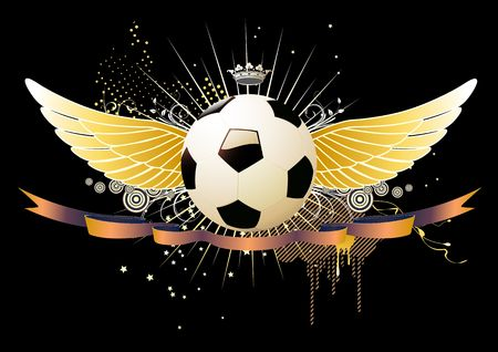 style soccer football winged emblems Stock Photo - 5257250