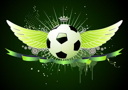 style soccer football winged emblems photo