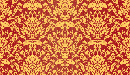 Vector illustration of Seamless Ornate floral Decorative wallpaper background. Vector