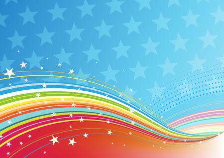 illustration of fourth of July patriotic abstract background illustration