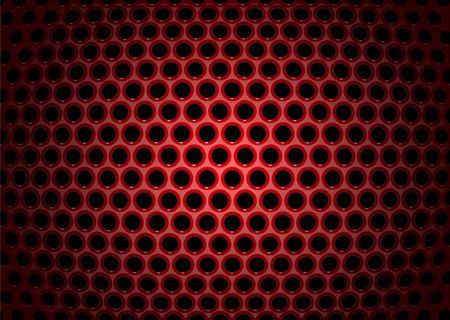 illustration of abstract background with textures of red perforated metal plate illustration