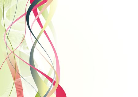 voluptuous: abstract background made of colorful curved lines