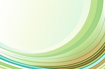 concave: abstract background made of green Rainbow curved lines Stock Photo