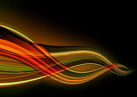 abstract background made of lighting splashes and curved lines photo