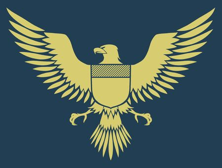 own:  coat-of-arms bird - Medieval Eagle of my own design Stock Photo