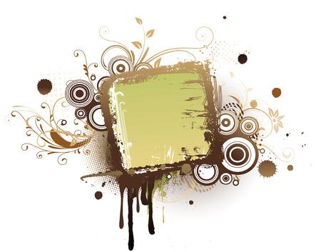 Illustration vectorielle de fond floral urbain avec des éléments de conception sur grunge colorées image.