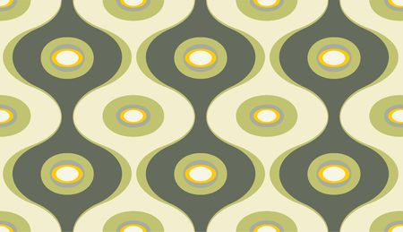 illustration of elegant geometric retro motif wallpaper seamless Pattern illustration