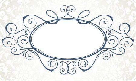 illustration of ornamental original vector design element for titling frame Stock Illustration - 5611446